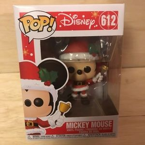Set of Disney Christmas funko pops